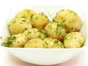 №1071 / Картофель отварной с маслом и зеленью